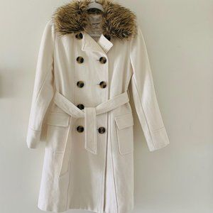 Old Navy long fur peacoat
